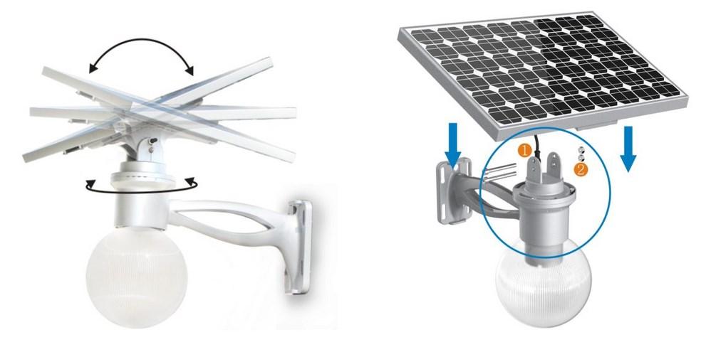 eclairage solaire autonome. Black Bedroom Furniture Sets. Home Design Ideas